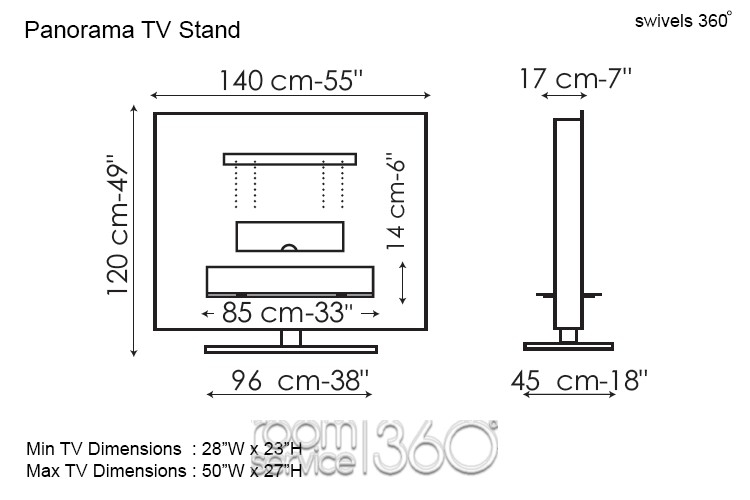 Magnificent Common Panorama TV Stands Intended For Panorama Designer Swivel Tv Stand Gino Carollo For Bonaldo (Image 39 of 50)