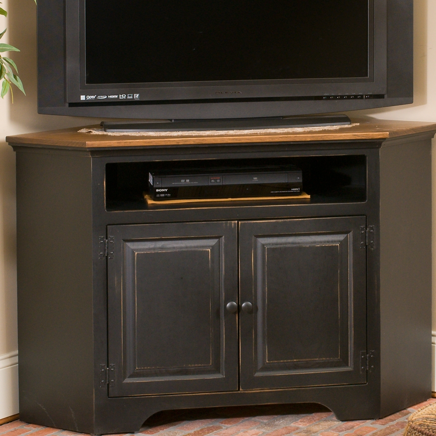 Magnificent Common Real Wood Corner TV Stands Pertaining To Solid Wood Amish Furniture Colonial Pine Corner Console Tv Stand (Image 40 of 50)