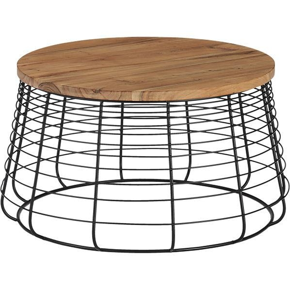 Magnificent Common Round Steel Coffee Tables Pertaining To Crestaire Autry Round Wood Coffee Table (Image 31 of 50)