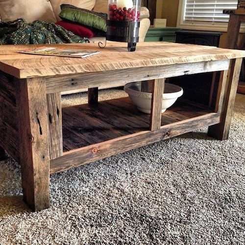 Magnificent Common Rustic Barnwood Coffee Tables Intended For Best 25 Barn Wood Tables Ideas On Pinterest Wood Tables (View 25 of 50)