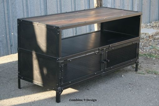 Magnificent Common Vintage Industrial TV Stands Intended For Buy A Hand Made Vintage Industrial Tv Stand Steel Reclaimed (Image 36 of 50)