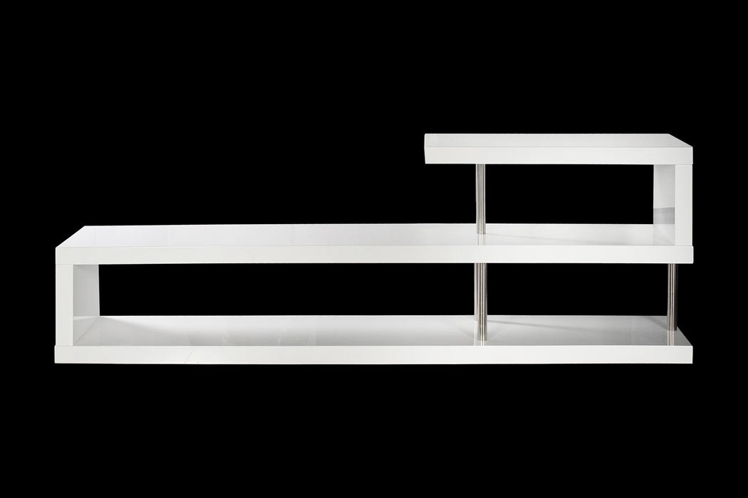 Magnificent Common White Modern TV Stands Regarding Modern White Lacquer Tv Stand (Image 35 of 50)
