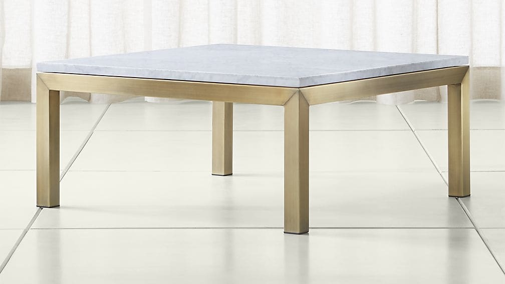 Magnificent Common White Square Coffee Table For Parsons White Marble Top Brass Base 36×36 Square Coffee Table (Image 29 of 50)