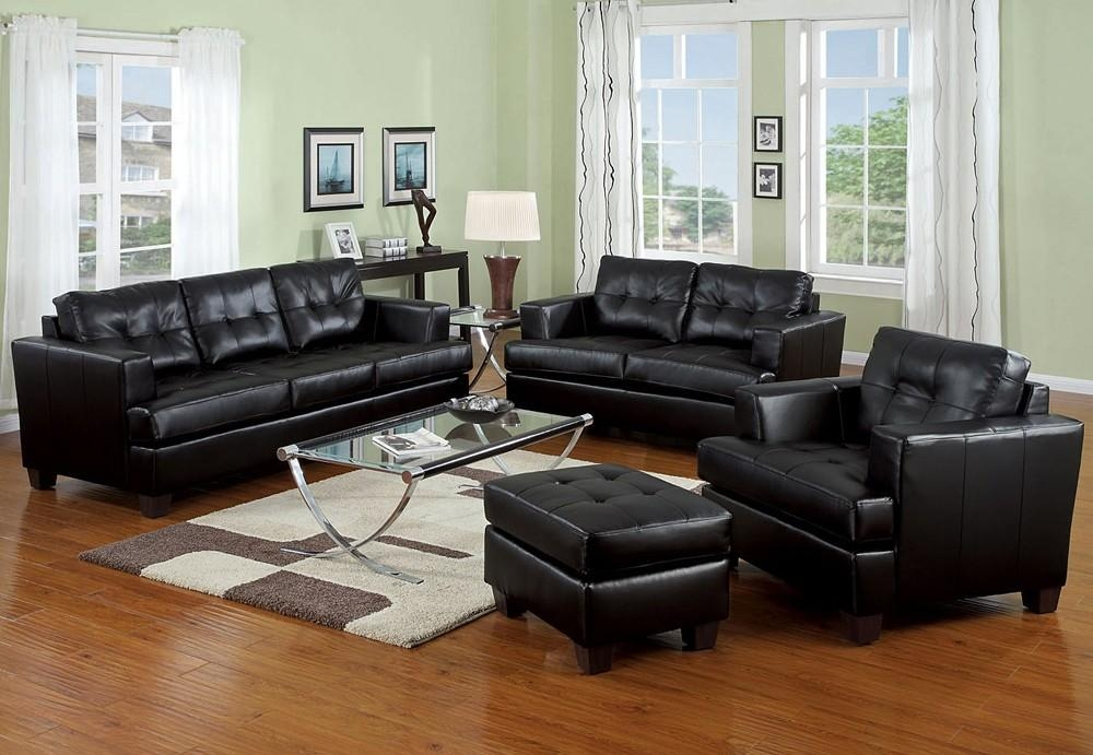 Magnificent Contemporary Black Leather Sofa Best Images About In Contemporary Black Leather Sofas (View 8 of 20)