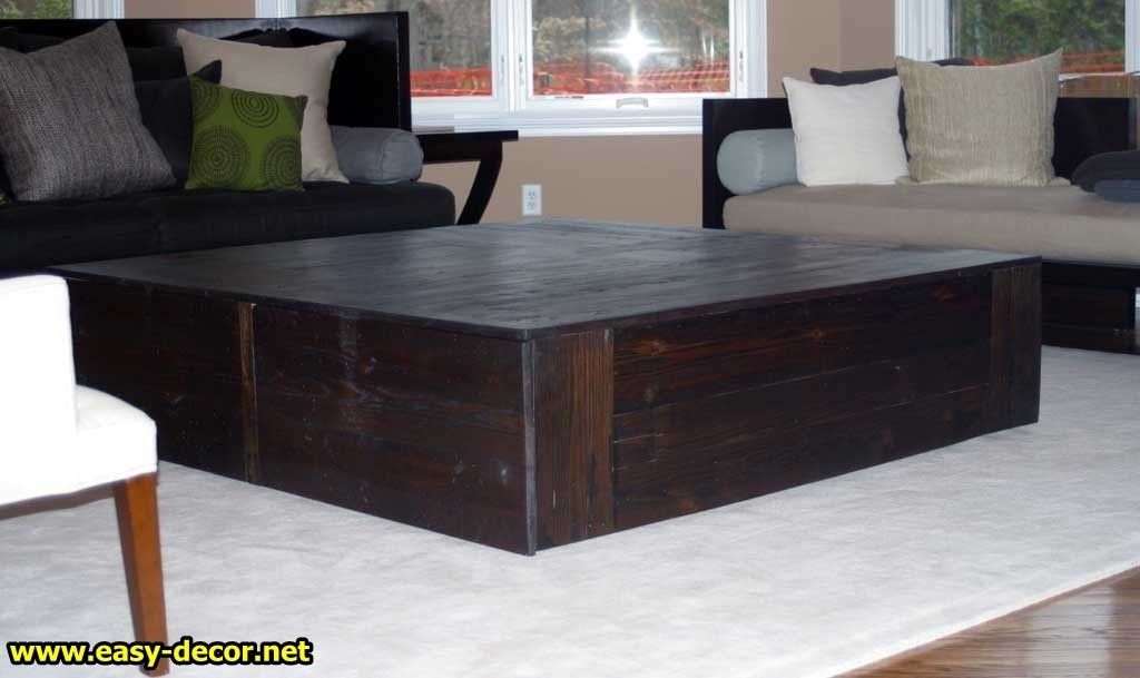 Magnificent Deluxe Big Square Coffee Tables Regarding The Most Popular Large Square Coffee Table Home Decorating Ideas (Image 31 of 50)