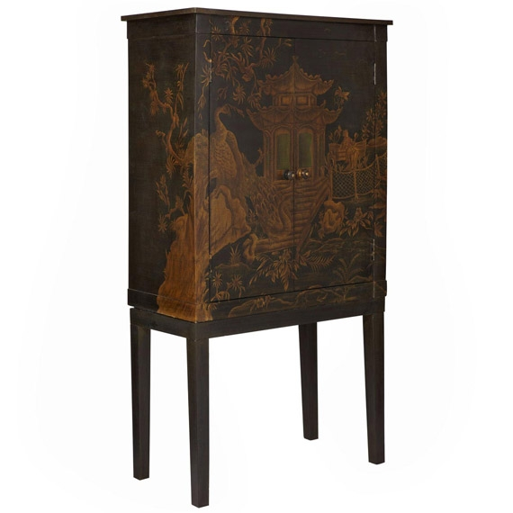 Magnificent Deluxe Black TV Cabinets With Regard To Chinoiserie Tv Cabinet Peking Handpainted Oka (Image 36 of 50)