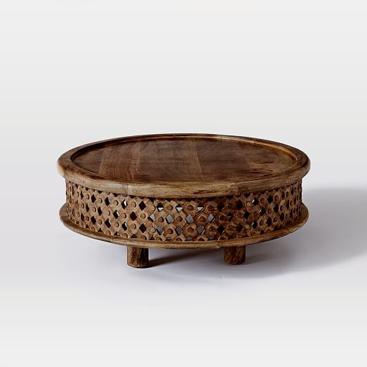 Magnificent Deluxe C Coffee Tables Regarding Carved Wood Coffee Table West Elm (View 28 of 50)