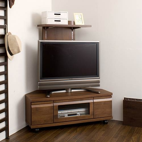 Magnificent Deluxe Dark Brown Corner TV Stands Pertaining To Kagumaru Rakuten Global Market Tv Stand Corner Type Completed (View 7 of 50)