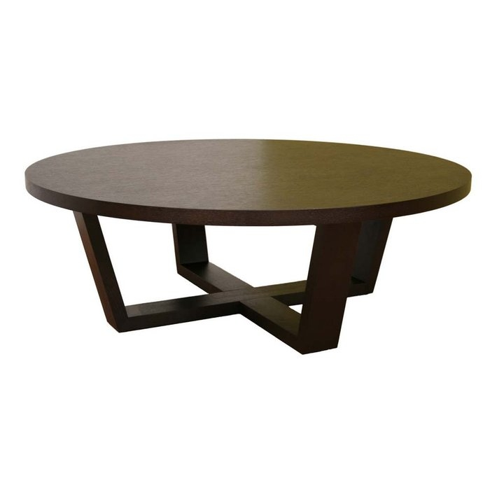 Magnificent Deluxe Dark Wood Round Coffee Tables Pertaining To Contemporary Coffee Table Round Wood (View 14 of 50)