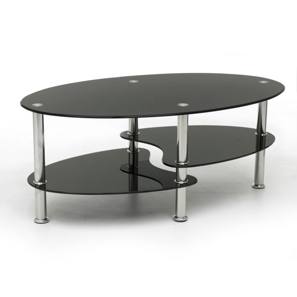 Magnificent Deluxe Glass Coffee Tables Pertaining To Cool Black Glass Coffee Table (Image 37 of 50)