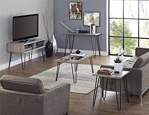 Magnificent Deluxe Hairpin Leg TV Stands With Regard To Amazon Altra Owen 42 Retro Tv Stand Sonoma Oakgunmetal (Image 32 of 50)