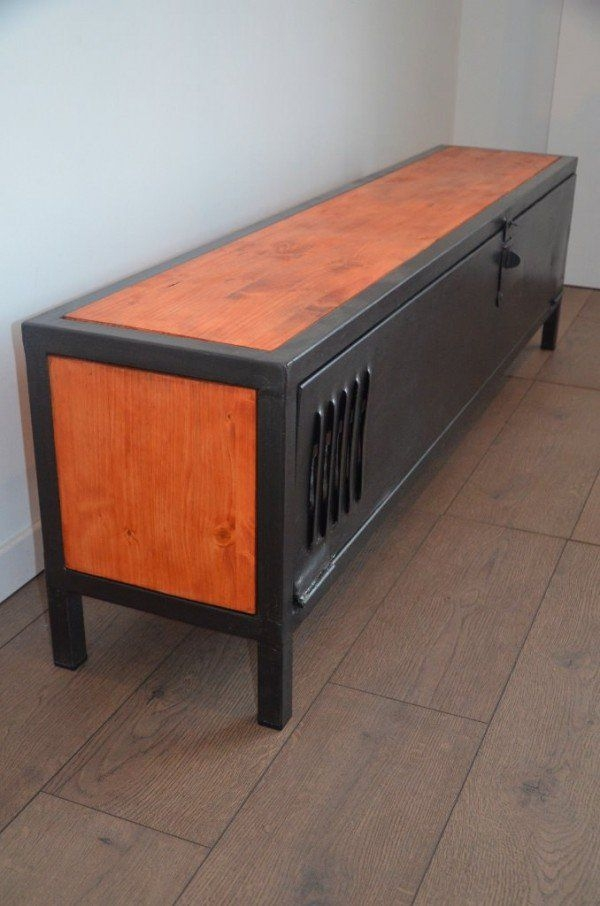 Magnificent Deluxe Industrial Metal TV Stands Regarding Best 25 Metal Tv Stand Ideas On Pinterest Industrial Tv Stand (Photo 32 of 50)