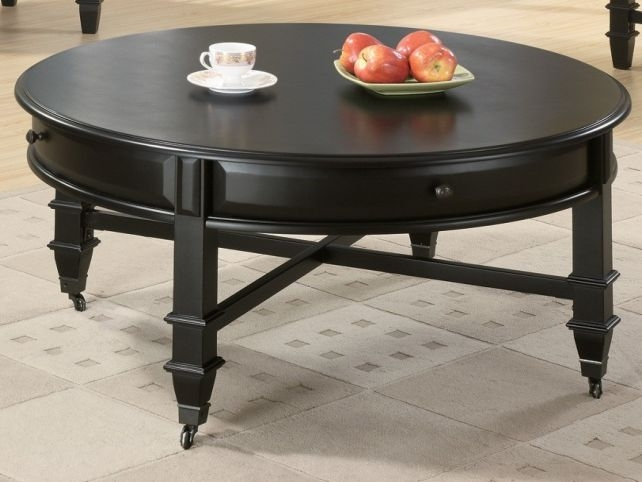 Magnificent Deluxe Large Round Low Coffee Tables Within Coffee Table Round Black (View 43 of 50)