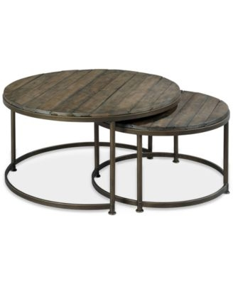 Magnificent Deluxe Monterey Coffee Tables Pertaining To Monterey Coffee Table Round Nesting Furniture Macys (Image 31 of 50)