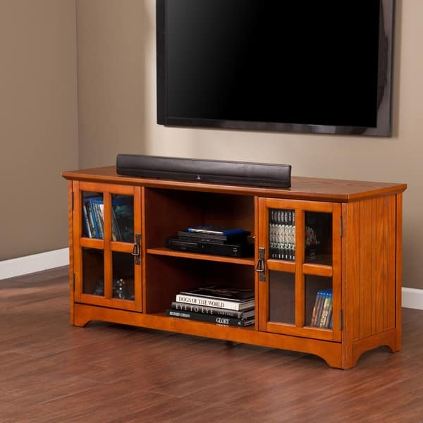 Magnificent Deluxe Oak TV Stands For Flat Screens Inside Harper Blvd Highland Mission Oak Tv Stand Free Shipping Today (Image 31 of 50)