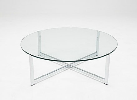Magnificent Deluxe Retro Glitz Glass Coffee Tables Regarding Modern Circular Coffee Table Ion Glass Round Coffee Table (View 44 of 50)
