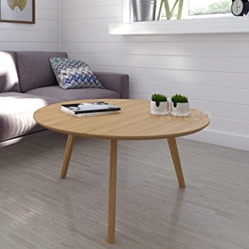 Magnificent Deluxe Retro Oak Coffee Tables Intended For Scandinavian Retro Round Coffee Table With Solid Oak Legs Oak (View 11 of 50)