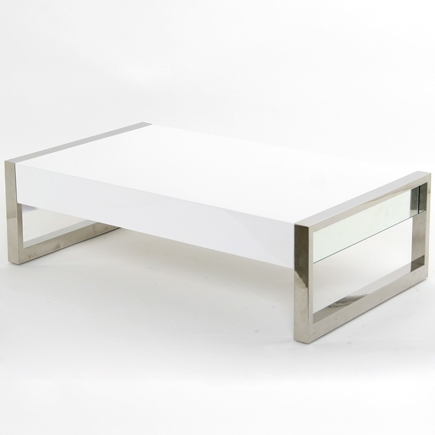 Magnificent Deluxe Square White Coffee Tables Inside Beautiful Contemporary White Coffee Table (View 33 of 50)