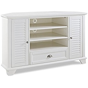 Magnificent Deluxe TV Stands White Regarding Amazon Crosley Furniture Palmetto 50 Inch Corner Tv Stand (View 21 of 50)