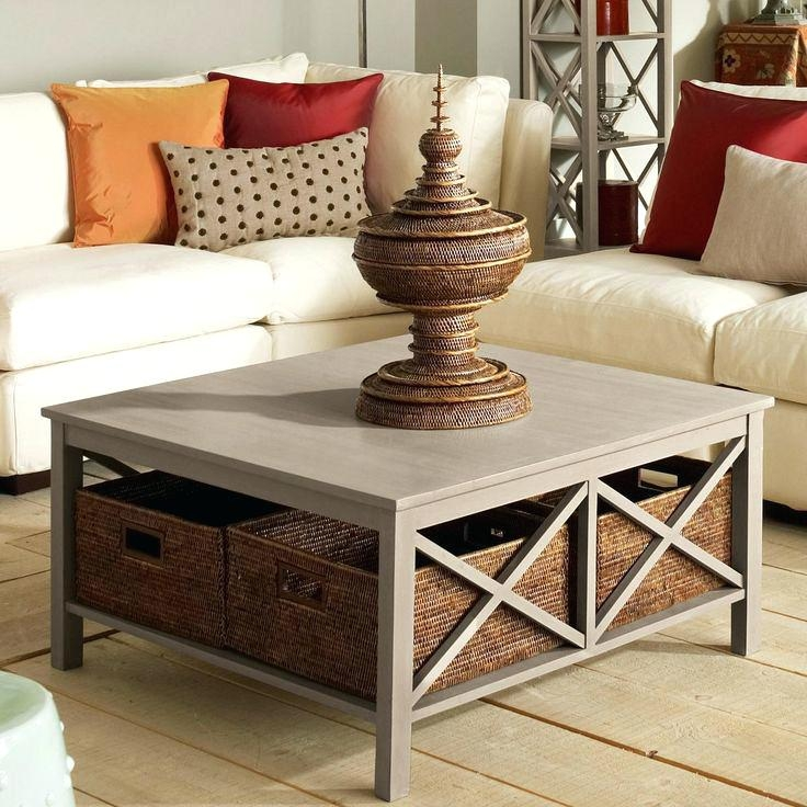 Magnificent Elite Coffee Tables With Baskets Underneath Regarding Coffe Table With Storage Blackbeardesignco (Image 25 of 40)