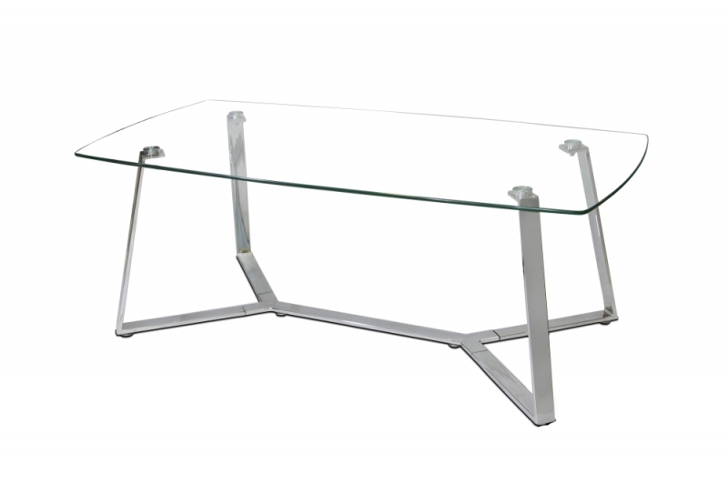 Magnificent Elite Coffee Tables With Chrome Legs Intended For Ferraracasa Isco Glass Coffee Table Chrome Legs (Image 42 of 50)