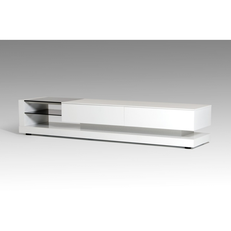 Magnificent Elite Contemporary White TV Stands For Buy The Modrest Mali Modern White Tv Stand Vig Furniture (View 39 of 50)