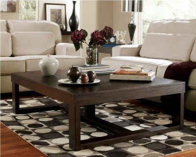Magnificent Elite Dark Brown Coffee Tables For Amazon Ashley Furniture Signature Design Watson Coffee (Image 33 of 50)