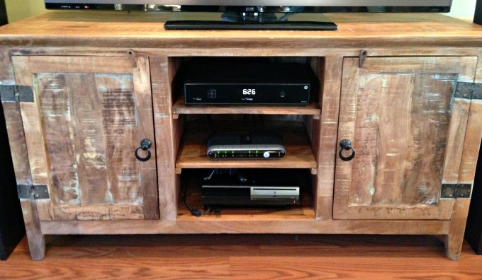 Magnificent Elite Double TV Stands For Furniture Interesting Reclaimed Wood Tv Stand For Home Furniture (Image 33 of 50)