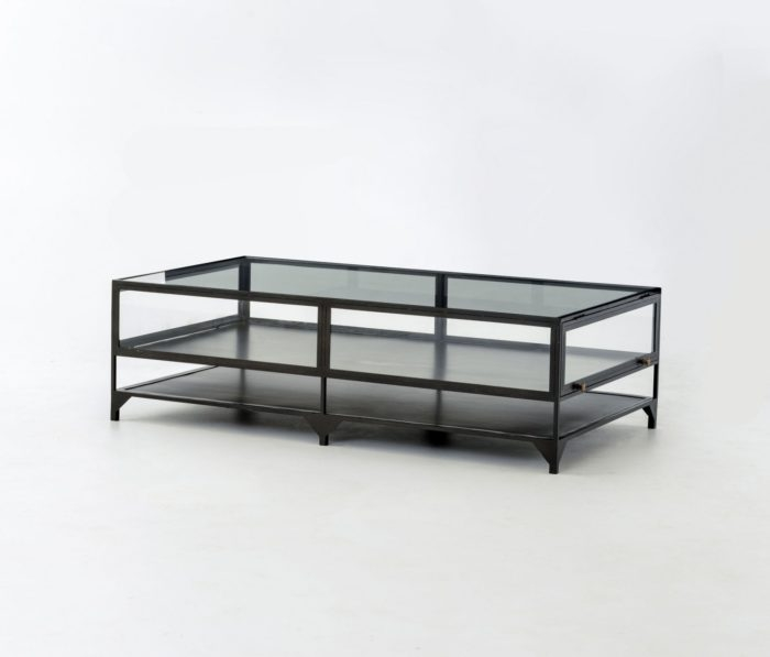 Magnificent Elite Glass And Black Metal Coffee Table Regarding Shadow Box Coffee Table Industrial Home (Image 30 of 50)