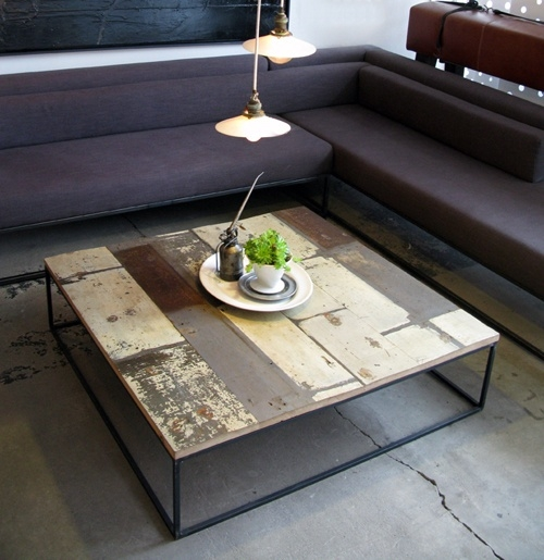 Magnificent Elite Large Low Wood Coffee Tables Regarding Best 20 Wood Steel Ideas On Pinterest Journal Of Steel Table (View 40 of 50)