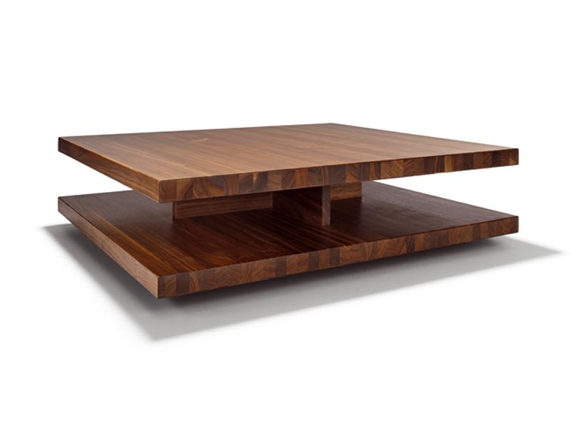 Magnificent Elite Low Square Wooden Coffee Tables  For Low Square Wooden Coffee Table C3 Team 7 Design Sebastian Desch (Image 34 of 50)