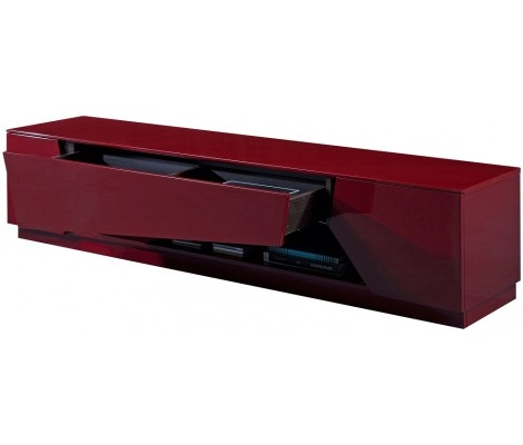 Magnificent Elite Red Modern TV Stands For Tv125 Modern Tv Stand In Red High Gloss Finish Jm Furniture (Image 30 of 50)