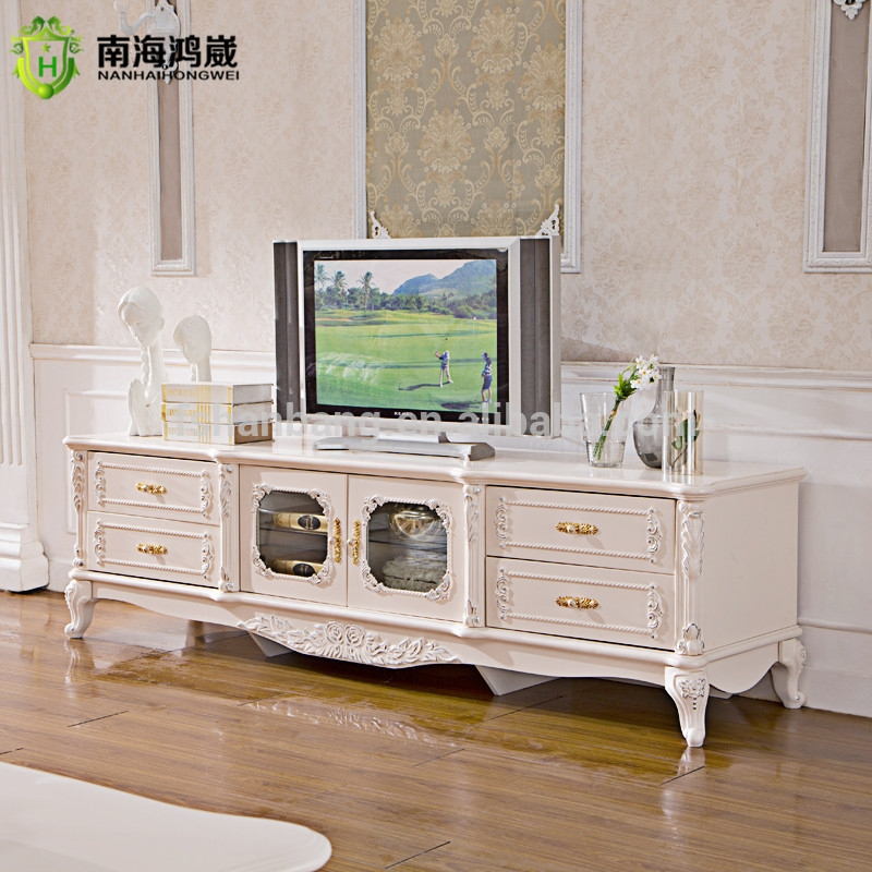 Magnificent Elite White Wooden TV Stands Within Classical European Style Ivory White Wooden Tv Stand Buy Wooden (Image 31 of 50)