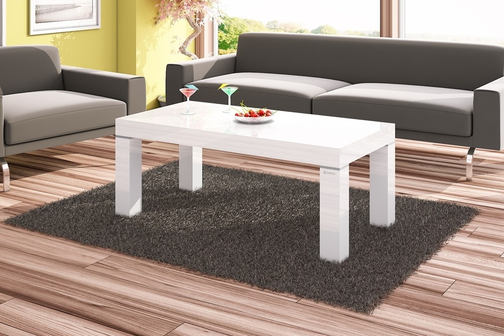 Magnificent Famous Coffee Tables White High Gloss Regarding White Gloss Coffee Table (Image 30 of 40)