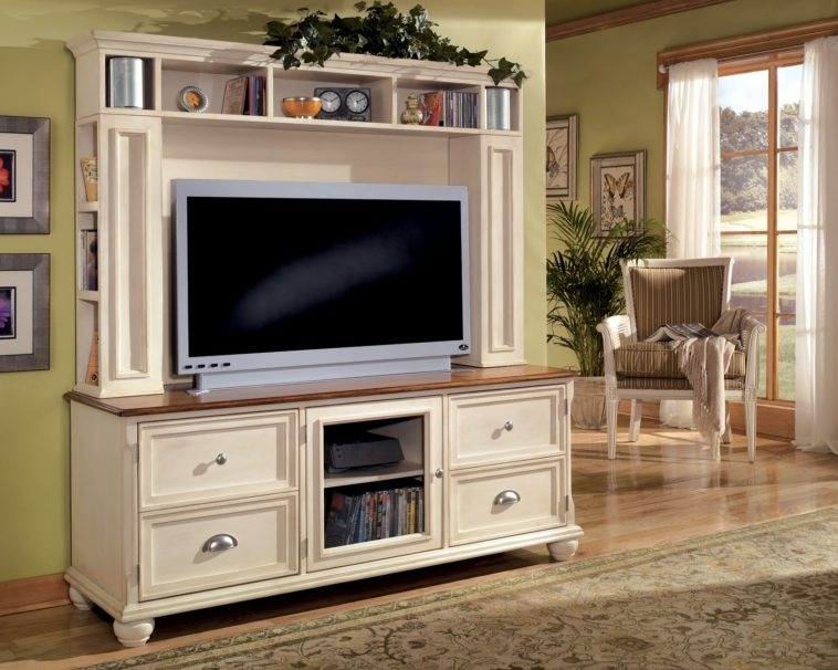 Magnificent Famous Country Style TV Stands Regarding Furniture White Wood French Country Style Big Screen Tv Stand (View 16 of 50)
