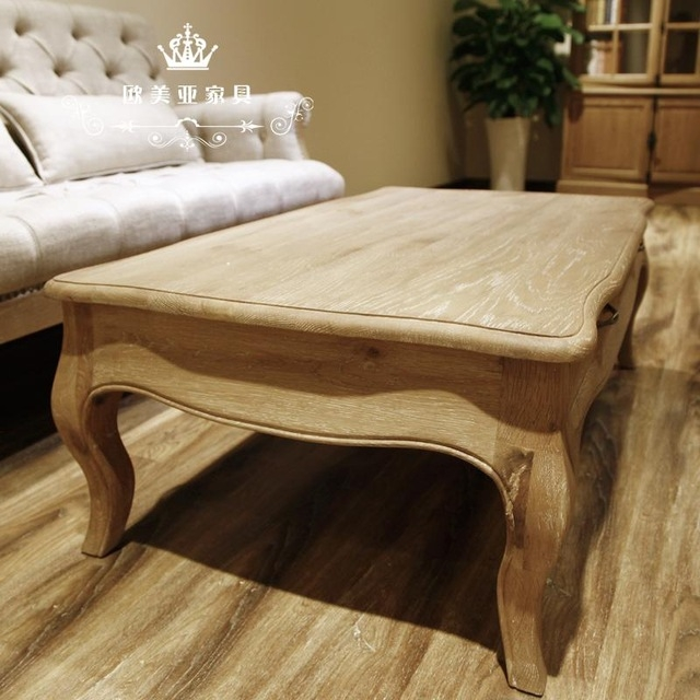 Magnificent Famous French White Coffee Tables For Cheap European American Vintage French White Oak Wood Simple Small (View 49 of 50)