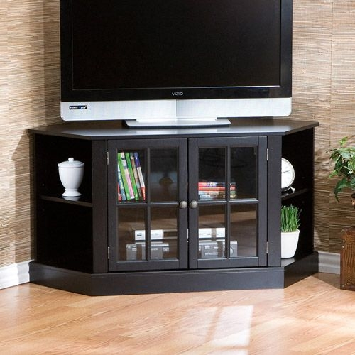Magnificent Famous Glass Corner TV Stands For Flat Screen TVs Within Best 25 Black Corner Tv Stand Ideas On Pinterest Small Corner (Image 30 of 50)