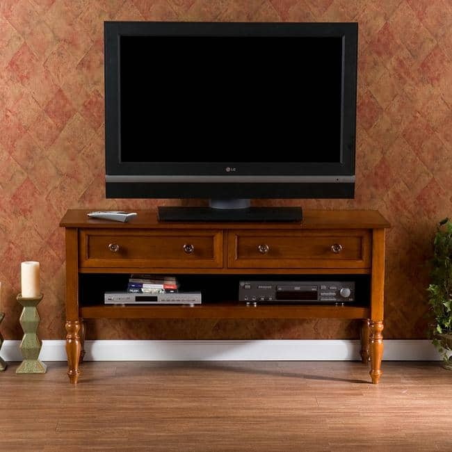 Magnificent Famous Mahogany TV Stands Furniture Intended For Preston Brown Mahogany Tv Stand Free Shipping Today Overstock (Image 30 of 50)