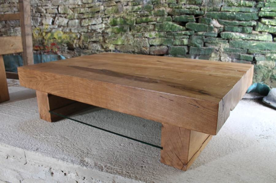 Magnificent Famous Oak Coffee Tables With Shelf Within Large Coffee Tables Large Rustic Trestle Coffee Table Me Gardens (Image 27 of 40)