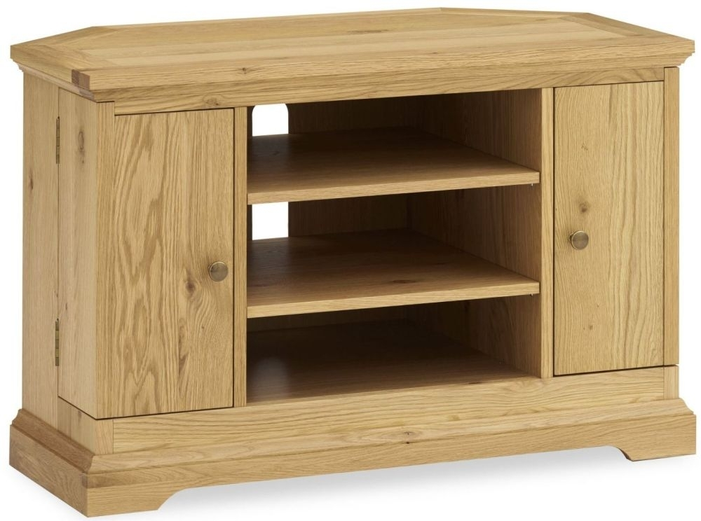 Magnificent Famous Oak Corner TV Cabinets Within Corner Tv Cabinets Oak Tv Cabintes On Sale Cfs Uk (View 49 of 50)
