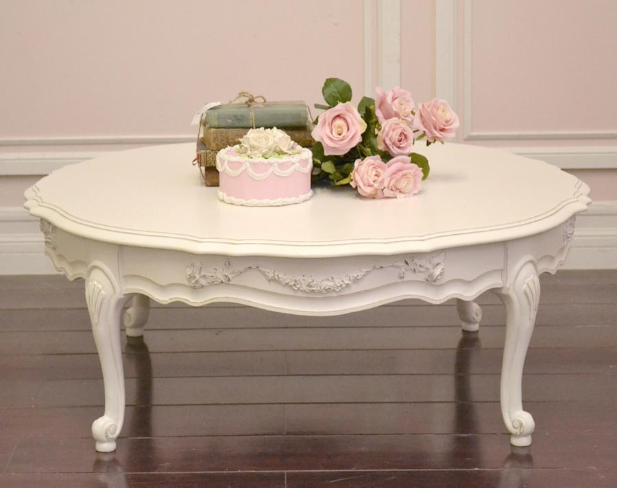 Magnificent Famous Retro White Coffee Tables Regarding Coffee Table Painted Toulouse Drawer Coffee Table Antique White (Image 32 of 50)