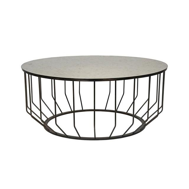 Magnificent Famous Round Steel Coffee Tables For Round Industrial Coffee Table (Image 34 of 50)