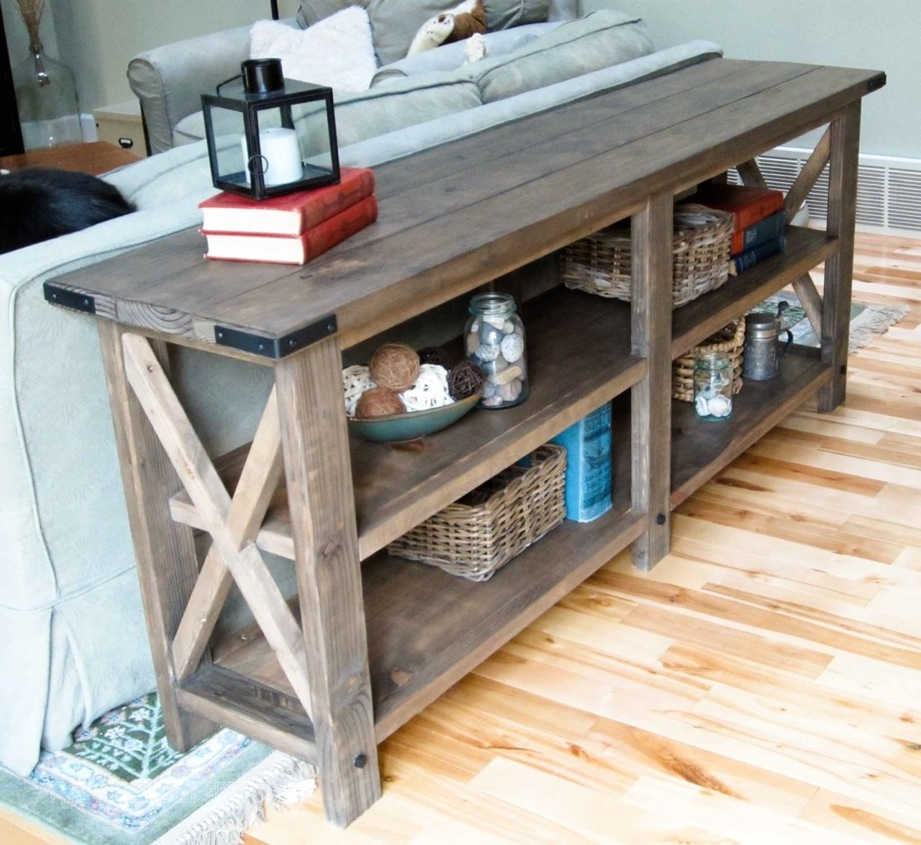 Magnificent Famous Rustic Coffee Table And TV Stands Throughout Ana White Rustic X Console Diy Projects (Image 33 of 50)