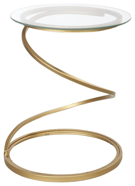 Magnificent Famous Spiral Glass Coffee Table Pertaining To Mona Aladham Metal And Glass Spiral Accent Table Contemporary (View 44 of 50)