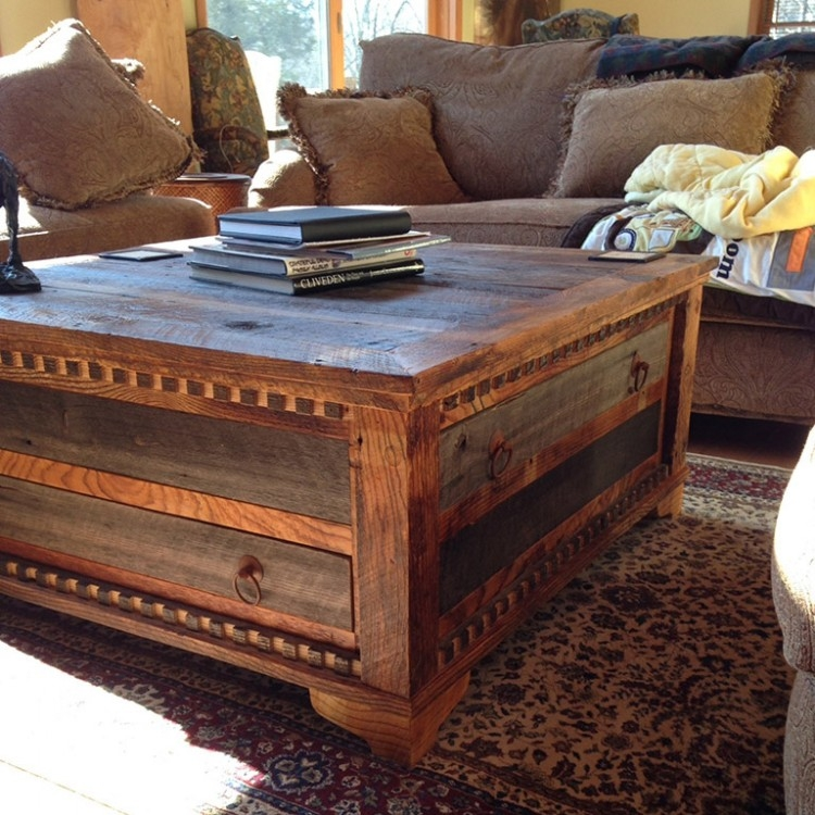 Magnificent Famous Square Chest Coffee Tables With Regard To Coffee Table Fascinating Rustic Square Coffee Table Plans (View 30 of 50)