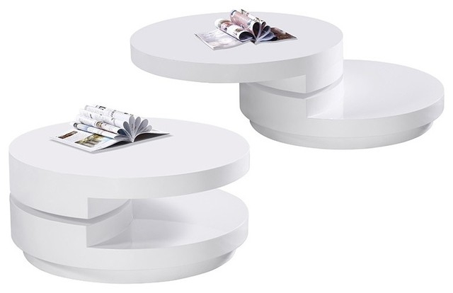 Magnificent Famous Swivel Coffee Tables For Modern White Round Coffee Table Table And Estate (View 33 of 50)