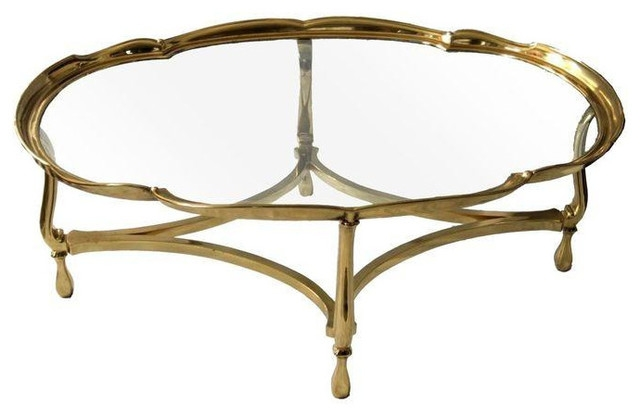 Magnificent Fashionable Antique Brass Glass Coffee Tables Intended For Brass And Glass Coffee Table (Image 35 of 50)