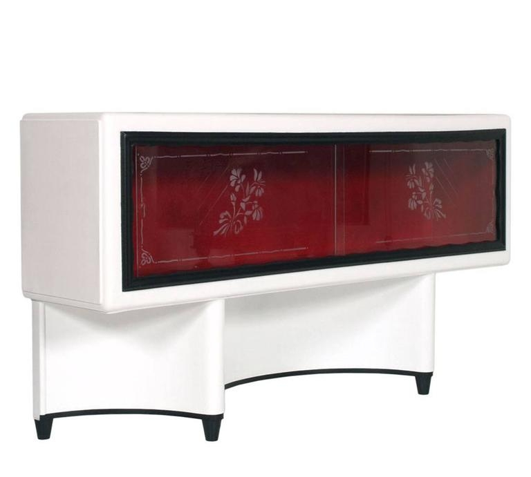 Magnificent Fashionable Art Deco TV Stands Throughout Mid Century Modern Art Deco Vitrine Display Cabinet Tv Stand (Image 34 of 50)