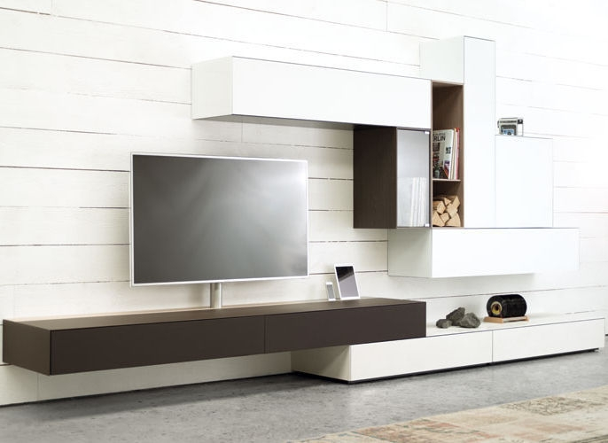 Magnificent Fashionable Contemporary TV Cabinets Intended For Contemporary Tv Cabinet With Built In Speaker With Integrated (Image 40 of 50)