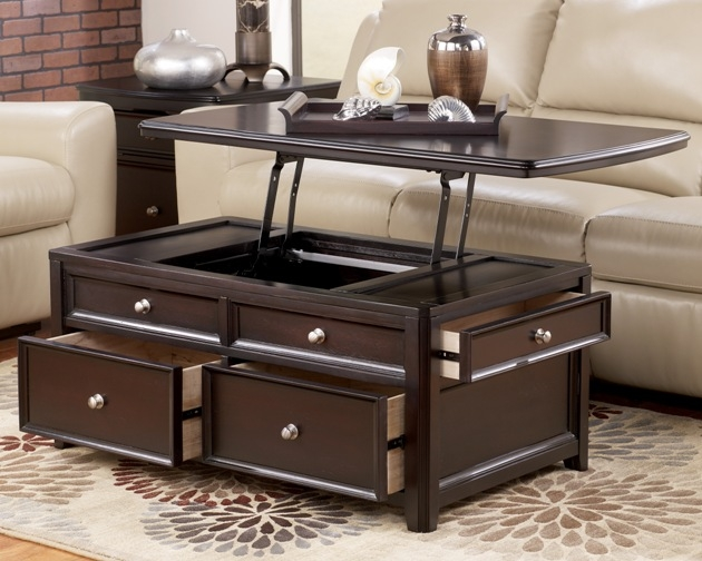 Magnificent Fashionable Lift Top Coffee Tables With Storage With Regard To Square Lift Top Coffee Table (Image 39 of 50)